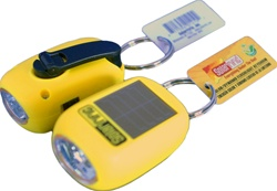 Picture of Solar Dynamo Flashlight Keychain