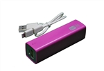 C5017 Pink 2000mAh Lipstick Sized USB Power Bank for Most Mobile Phones and Smart Phones with USB Cable