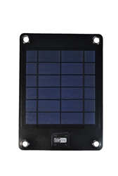 C5018 4W Solar Charger with 2000 mAh External Battery for Mobile Phones and Small 5V Digital Devices (Black)