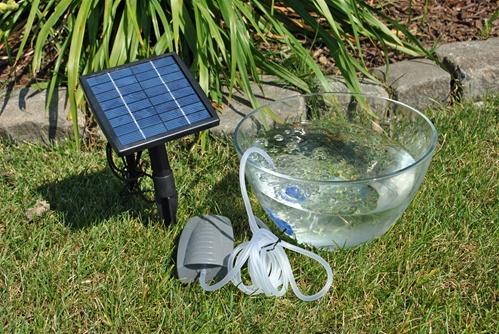 g3035 solar air pump kit for fish pond. Black Bedroom Furniture Sets. Home Design Ideas