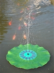 G3039 Floating Solar Fountain on a Lily Pad
