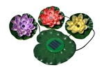 G4043 Floating Solar LED Lily Flowers