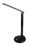 L2034 Minimalistic Foldable Smart LED Lamp with Calendar, Time and Celsius Temperature Display (Black)