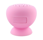S8001- Bluetooth Rechargeable Stick-On, Splashproof Speakers (Pink)