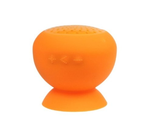 S8002- Bluetooth Rechargeable Stick-On, Splashproof Speakers (Orange)