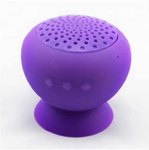 S8003- Bluetooth Rechargeable Stick-On, Splashproof Speakers (Purple)